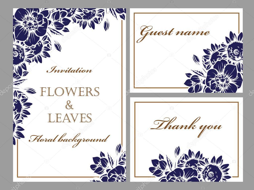 Flores Azules Para Invitaciones
