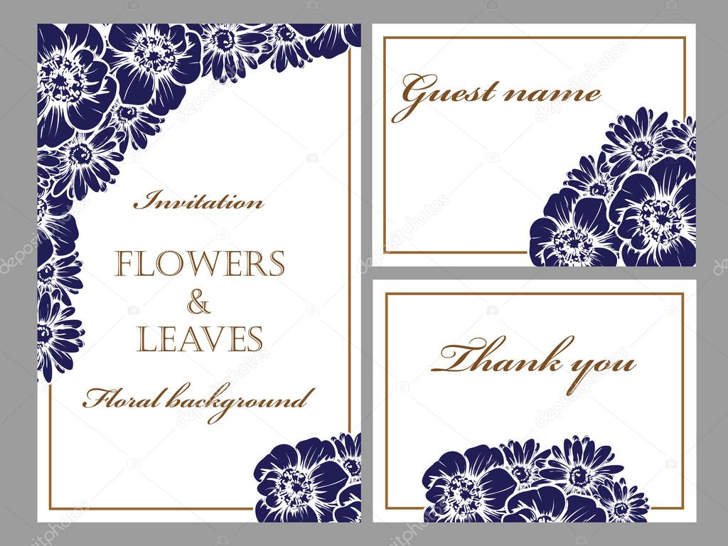 spring blue flowers for invitations stock vector all about