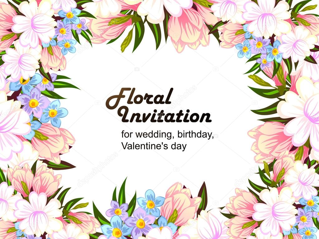 Colorful Greeting Wedding Invitation Card Stock Vector All About
