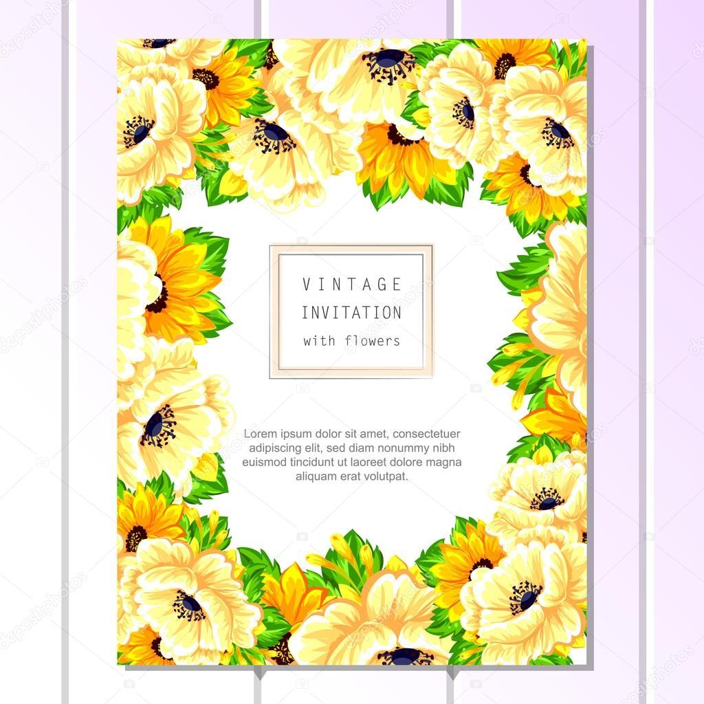 Yellow greeting wedding invitation card vetor de stock all about yellow greeting wedding invitation card vetor de stock stopboris Choice Image