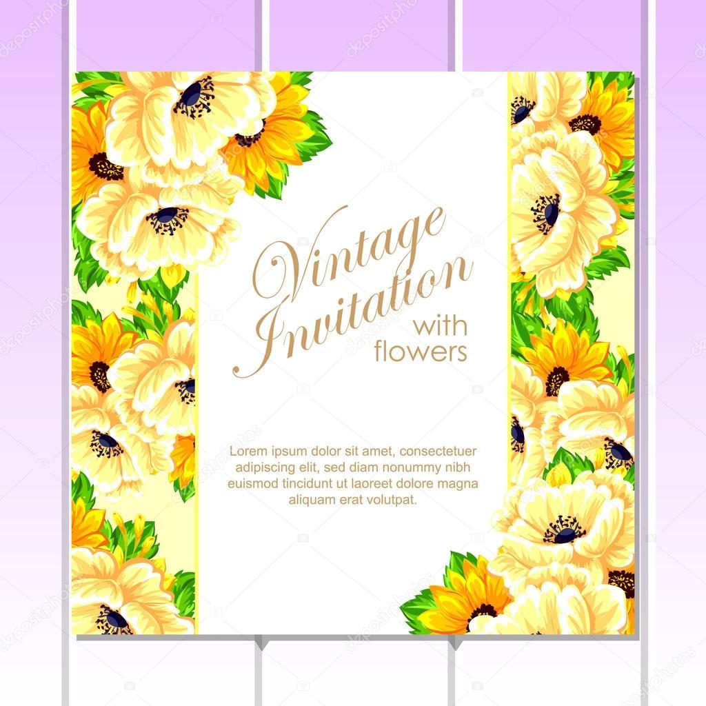 Yellow greeting wedding invitation card vetor de stock all about yellow greeting wedding invitation card vetor de stock stopboris Image collections