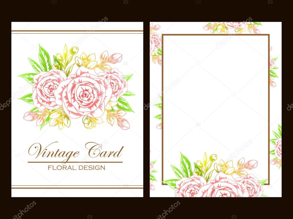 Pink and yellow wedding invitation card — Stock Vector © All-about ...