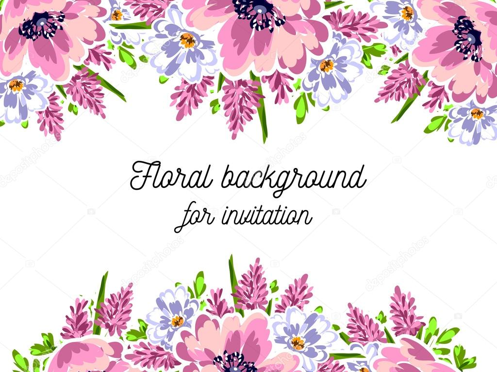 Blue And Violet Flower Design Concept Stock Vector C All About Flowers 104577580