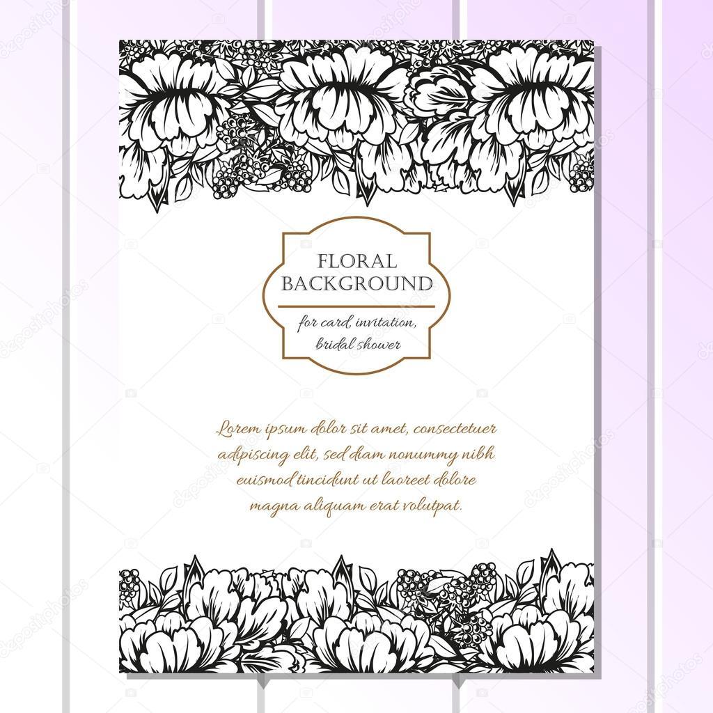 Schwarz / Weiß Hochzeit Einladungskarte U2014 Stockvektor