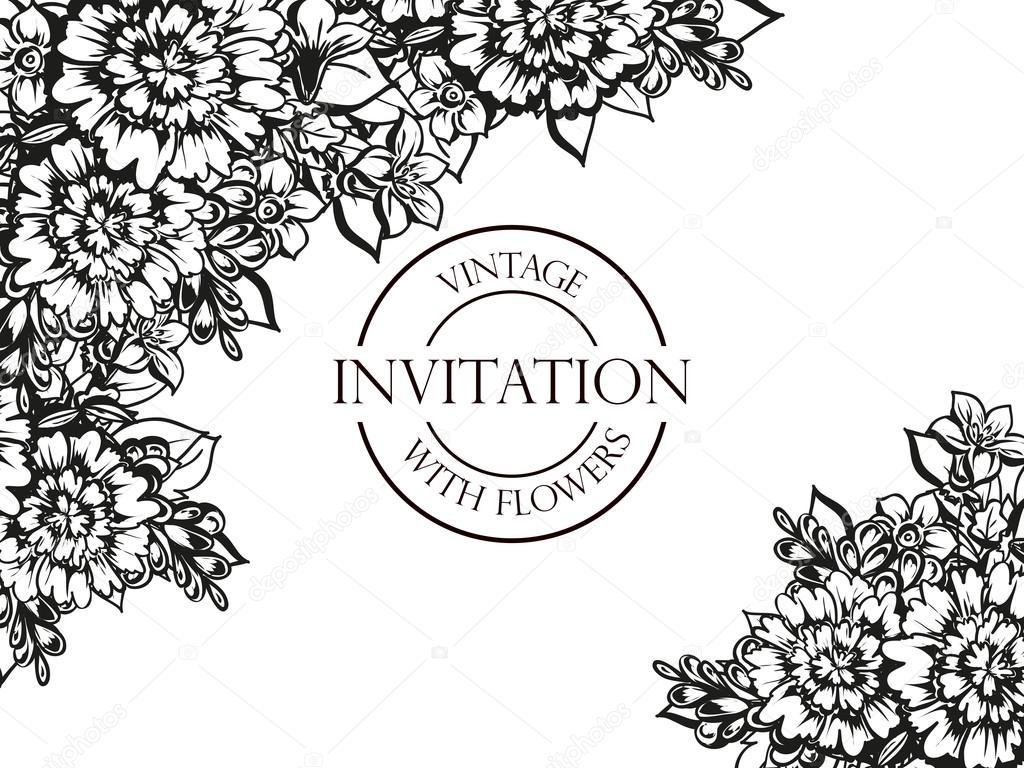 Matrimonio In Bianco E Nero : Carta di invito matrimonio in bianco e nero