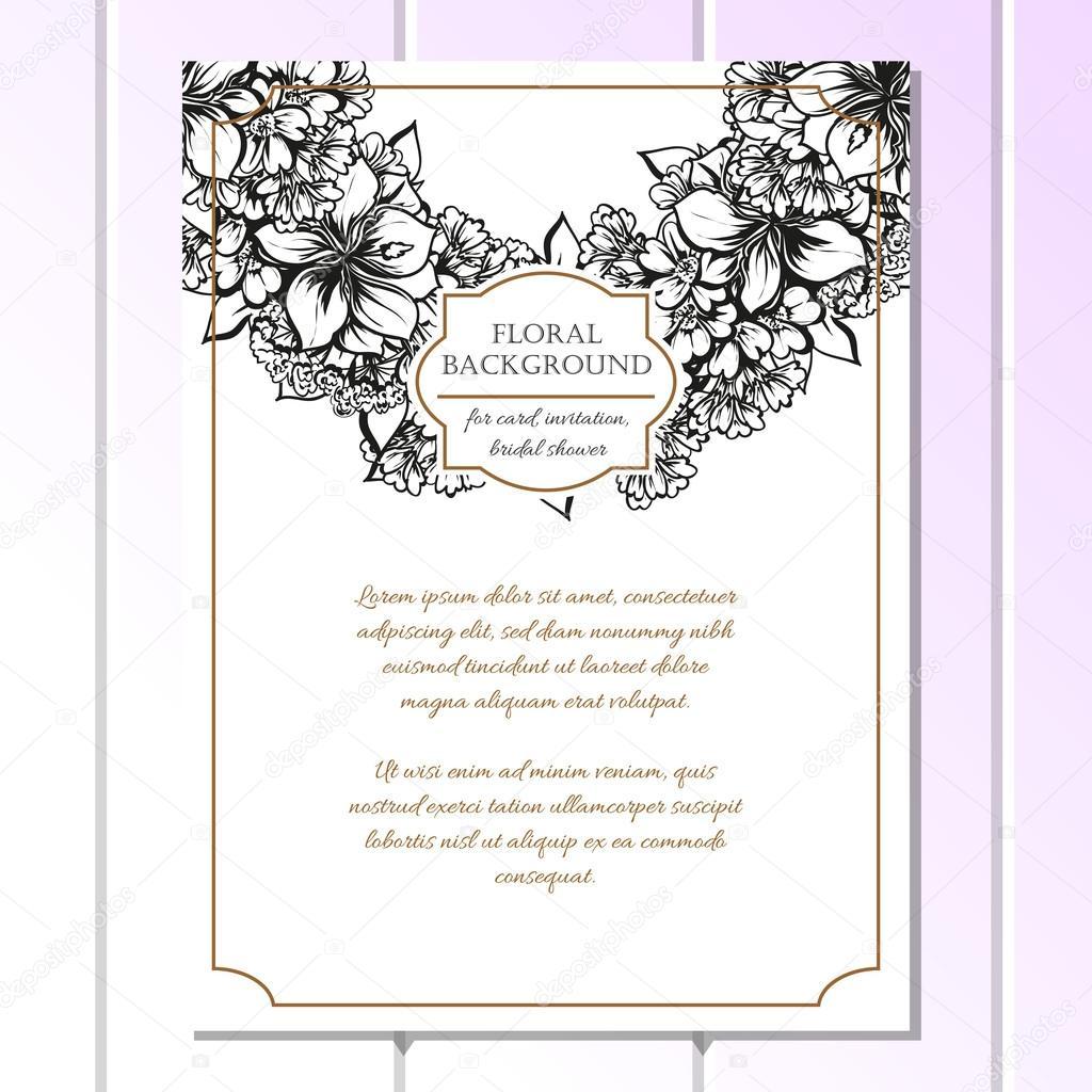 Czarno Białe ślubne Zaproszenia Karty Grafika Wektorowa All