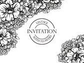 Černá a bílá svatební pozvánky