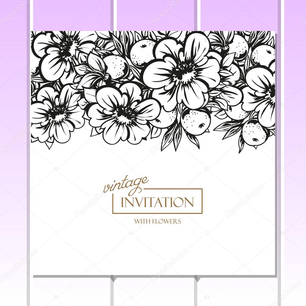 Картинки черно белые приглашения на день рождения