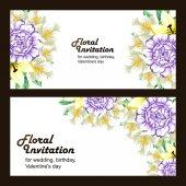 Barevné svatební pozvání blahopřání
