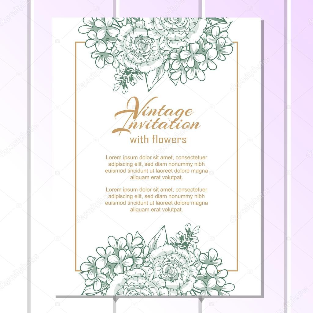 Green linera wedding invitation card vetor de stock all about green linera wedding invitation card vetor de stock stopboris Gallery