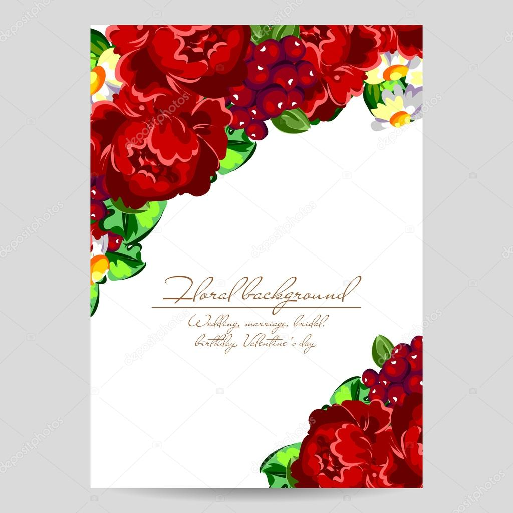 Floral Invitation Template Stock Vector C All About Flowers 114305866