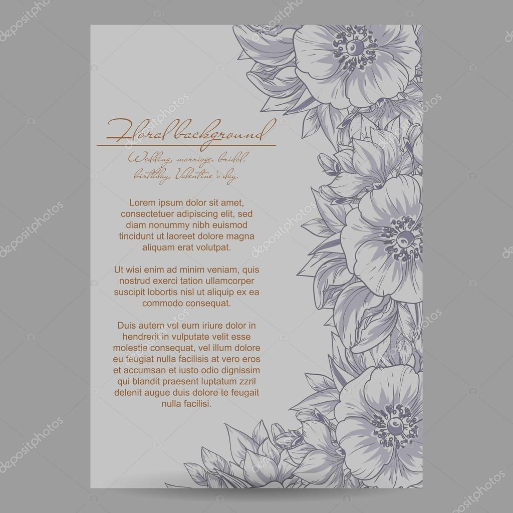 greeting wedding invitation card — Stock Vector © All-about-Flowers ...