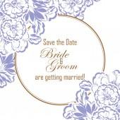 carta di invito di matrimonio floreale vintage