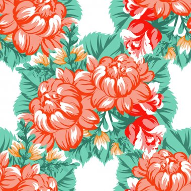 Seamless beautiful floral pattern