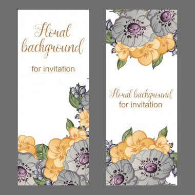 Invitation with beautiful flowers