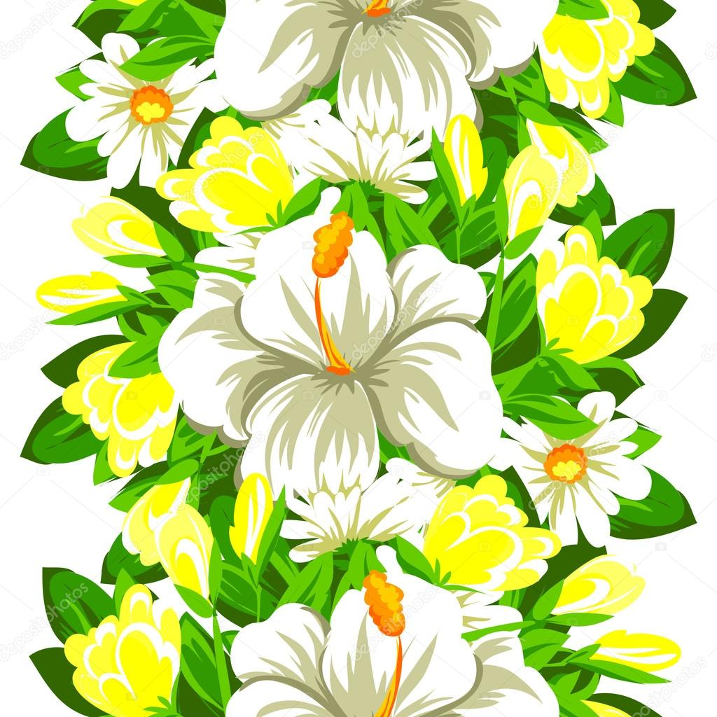 Elegance beautiful flowers stock vector all about flowers 123673536 vector illustration design of elegance seamless pattern with beautiful white flowers isolated on white background vector by all about flowers izmirmasajfo