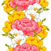 bezešvé vzor s květinovým pozadím