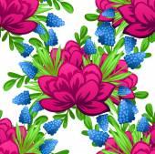Abstraktní vzor s květinovým pozadím