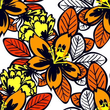 Abstract pattern with floral elements