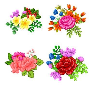 Set a bouquets of flowers