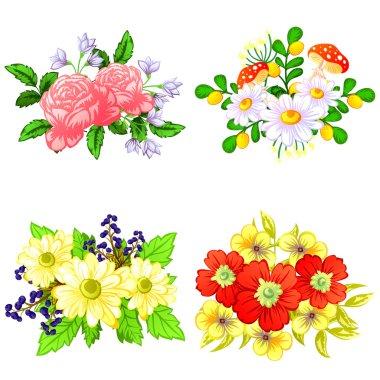 Flower bouquet set
