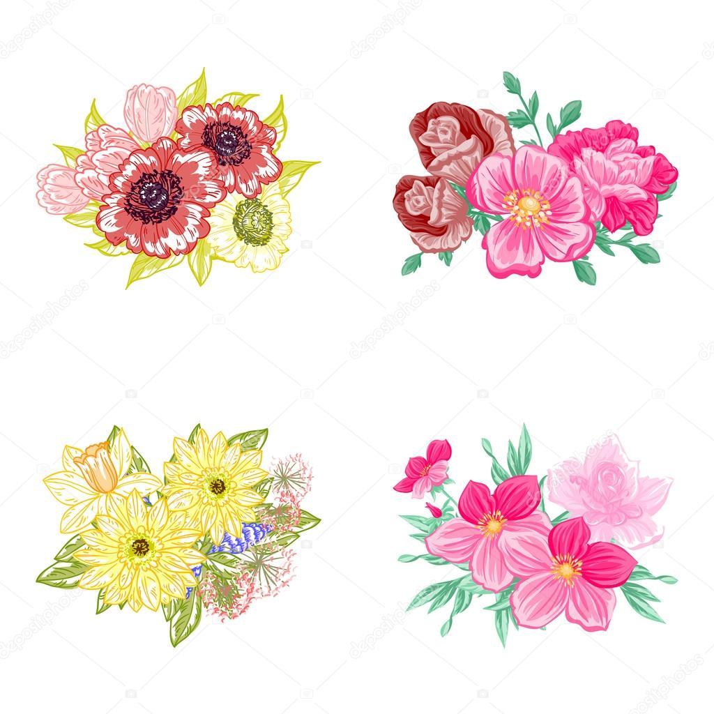 Imágenes Flores Para Descargar Flor Para Boda Vector De Stock