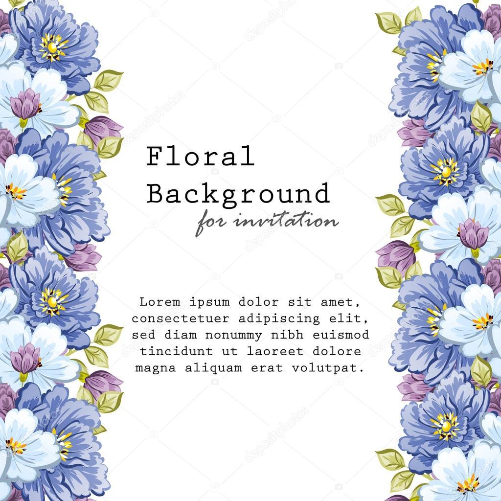 52b7cfb0d delikat inbjudan med blommor för bröllop — Stock Vektor © All-about ...