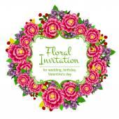 Delikátní Pozvánka s květinami