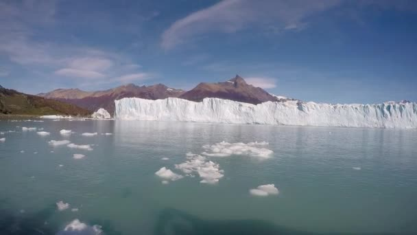 Panoramic View of the Glacier and the Beautiful Wildlife Bright Sunny Day