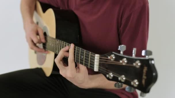 Detailní záběr kytaru