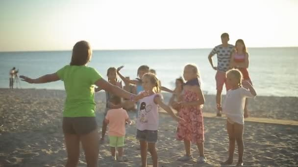 Children Are training to Dance on The Beach