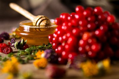 Honey and herbs