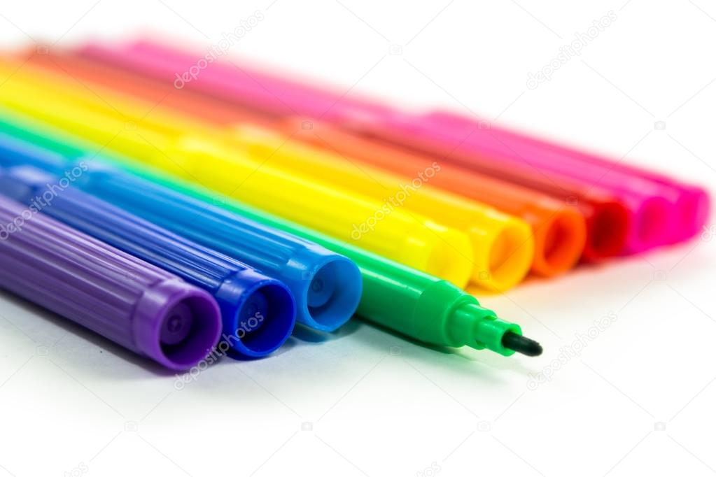 set of markers rainbow colors — Stock Photo © Eight8 #61853981
