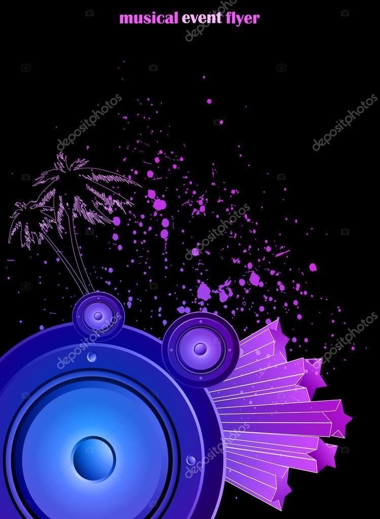 Fabuloso fundo para flyer de evento musical — Vetores de Stock © PlutonII  SU67