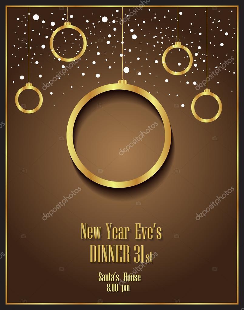 Feliz Año Nuevo Y Feliz Navidad Fondo Folletos Invitación