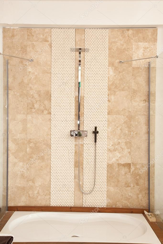shower,bath,shower systems,water,bathe,marble,tiles,relax — Stock ...