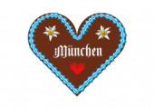 Besticktes Oktoberfest München Lebkuchenherz