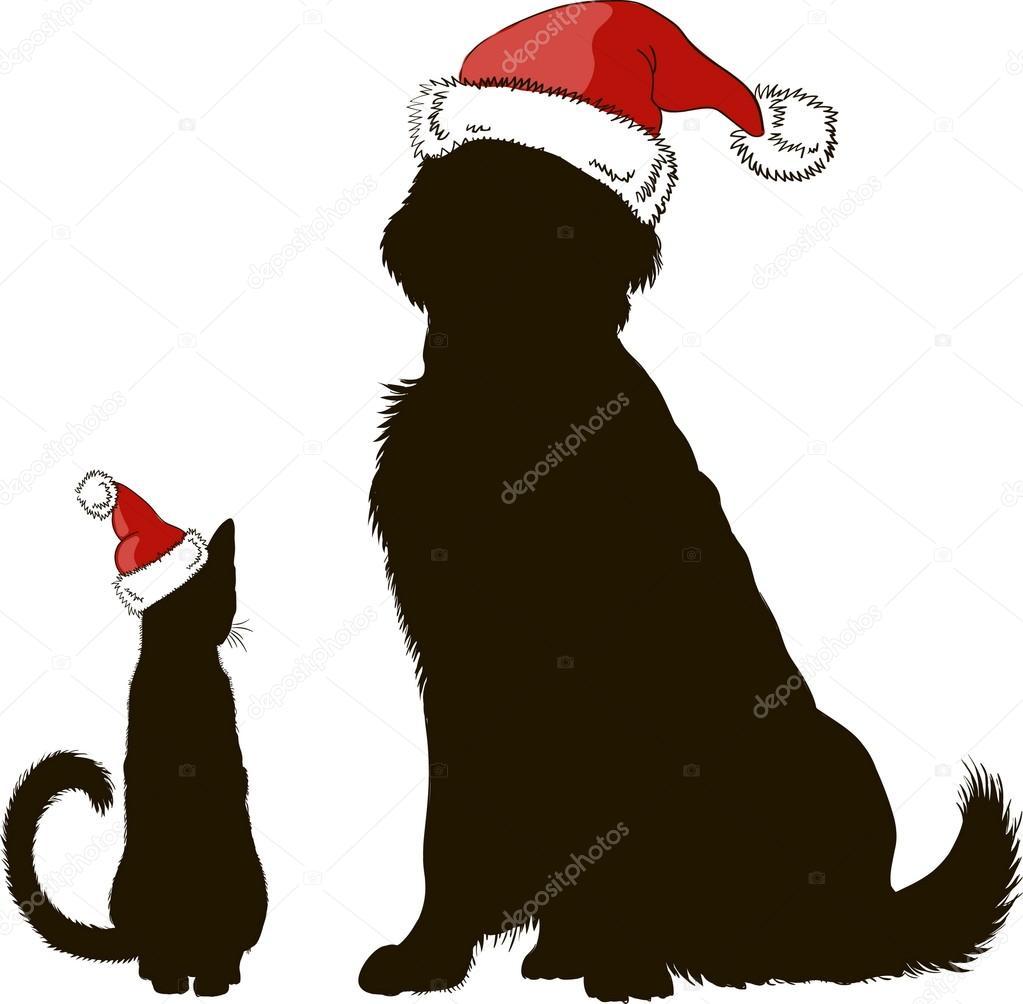 Disegni Di Cani Natalizi Disegno Di Un Cane E Un Gatto In