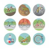 Photo Bicycle icon set