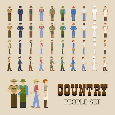 Country People Set