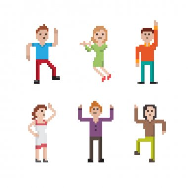 Dancing Pixel People Set