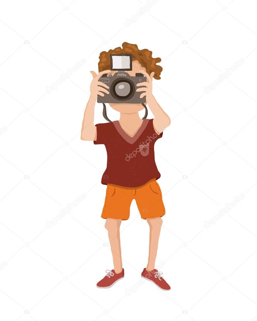 возможность картинка мужчина с фотоаппаратом вектор тех