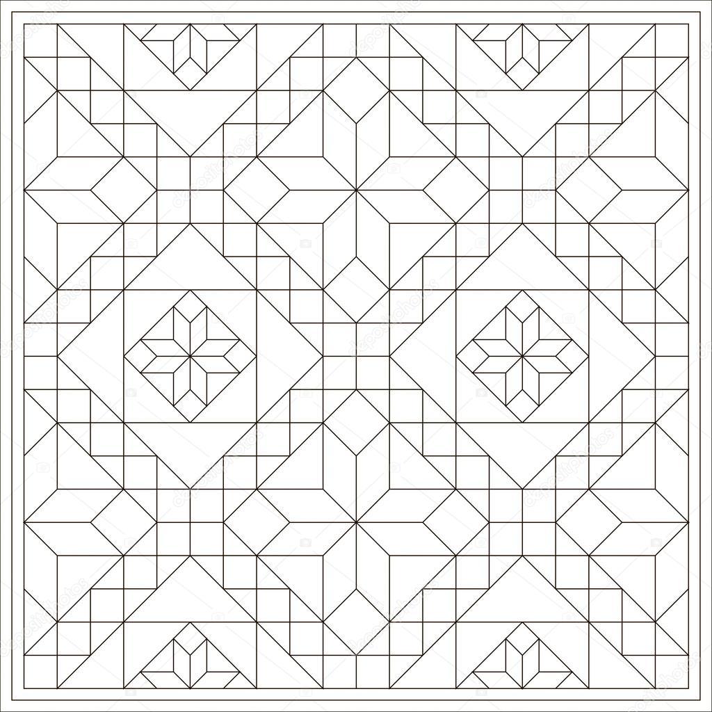 Libro de colorear para niños. Patrón geométrico. Vector de — Archivo ...