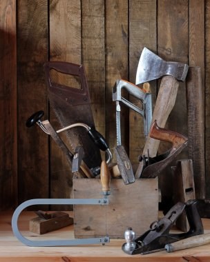 Tools in a wooden box