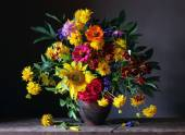 Fotografie Bouquet from cultivated flowers