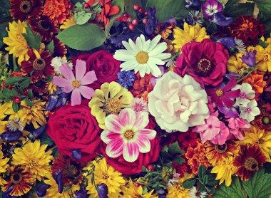 """Картина, постер, плакат, фотообои """"цветочный фон. фон из культивируемых цветов ."""", артикул 81286028"""