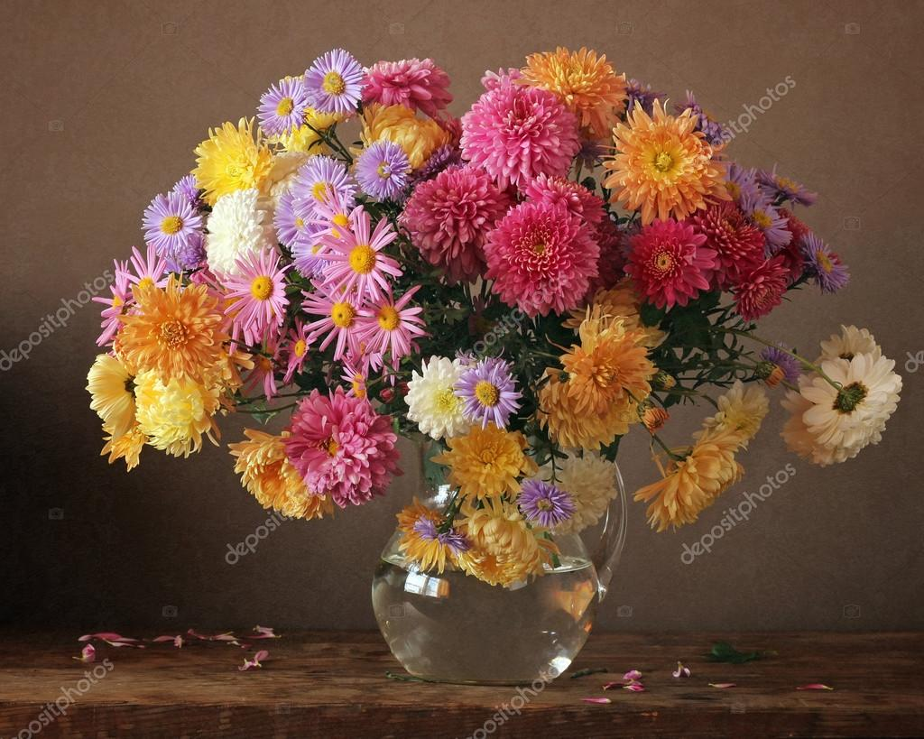 Bouquet of autumn flowers.