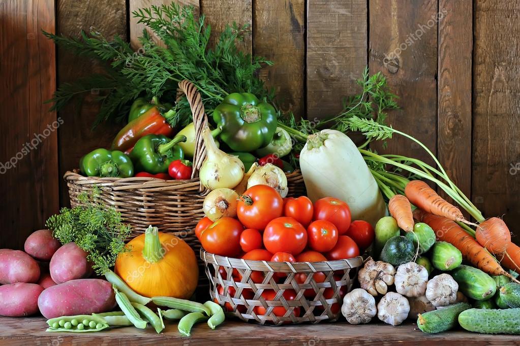 Fresh vegetables in basket. Food.