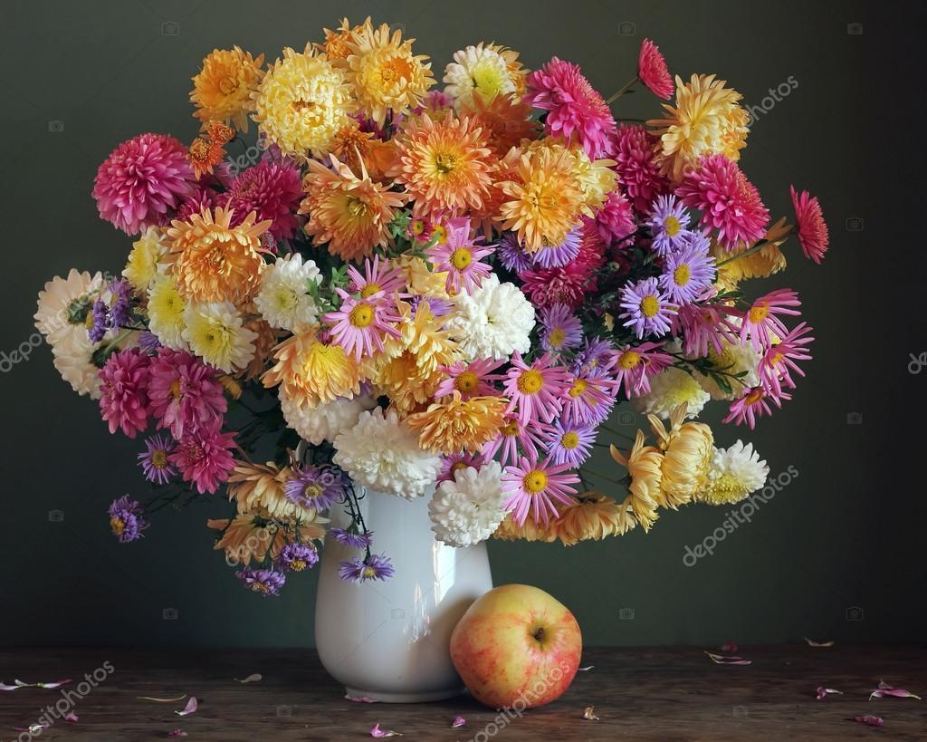 Цветы осень для поздравления фото 799