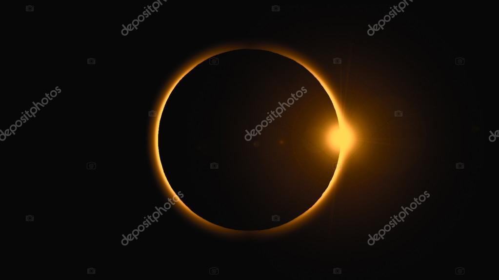 Diamond ring during solar eclips